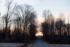 country road, sunset, dusk, country, virginia